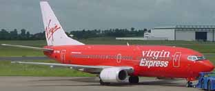 Virgin Express B737-300 at Shannon